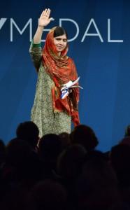 17-Year-Old Pakistani Activist Malala Yousafzai Receives Liberty Medal; image courtesy of Getty Images