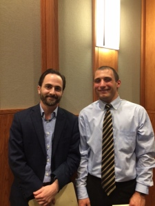 Dan DiPrinzio and senior English major Christian Scittina, who introduced our speaker