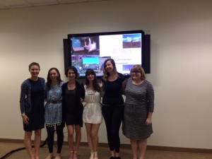l-r: Ashley DiRienzo, Kimberlee Roberts, Emma Irving, Victoria Giansante, Jeannie McGuire, Taylor Brown