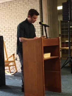 English and Creative Writing senior Evan Kramer