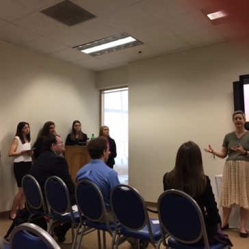 Students from Annalisa Castaldo's Renaissance Literature course