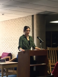 Taylor Blum reading her fiction