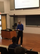 Professor Michael Cocchiarale introduces Distinguished Senior Emma Irving